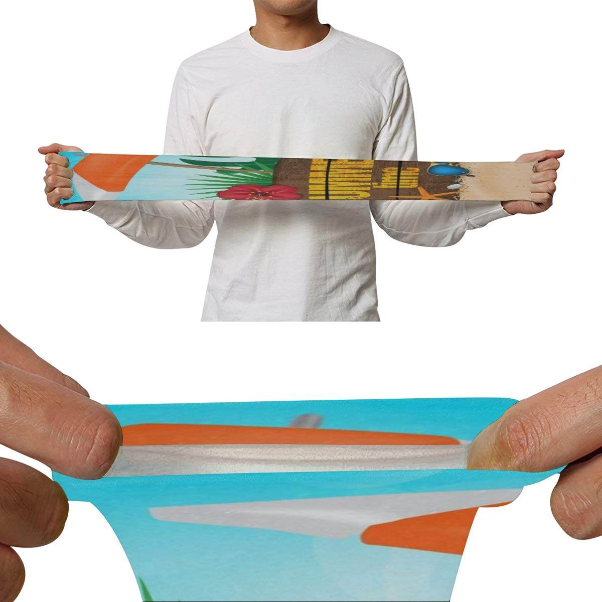 Arm Sleeves Welcome Summer Tropical Ocean Sea Beach Mens Sun UV Protection Sleeves Arm Warmers Cool Long Set Covers