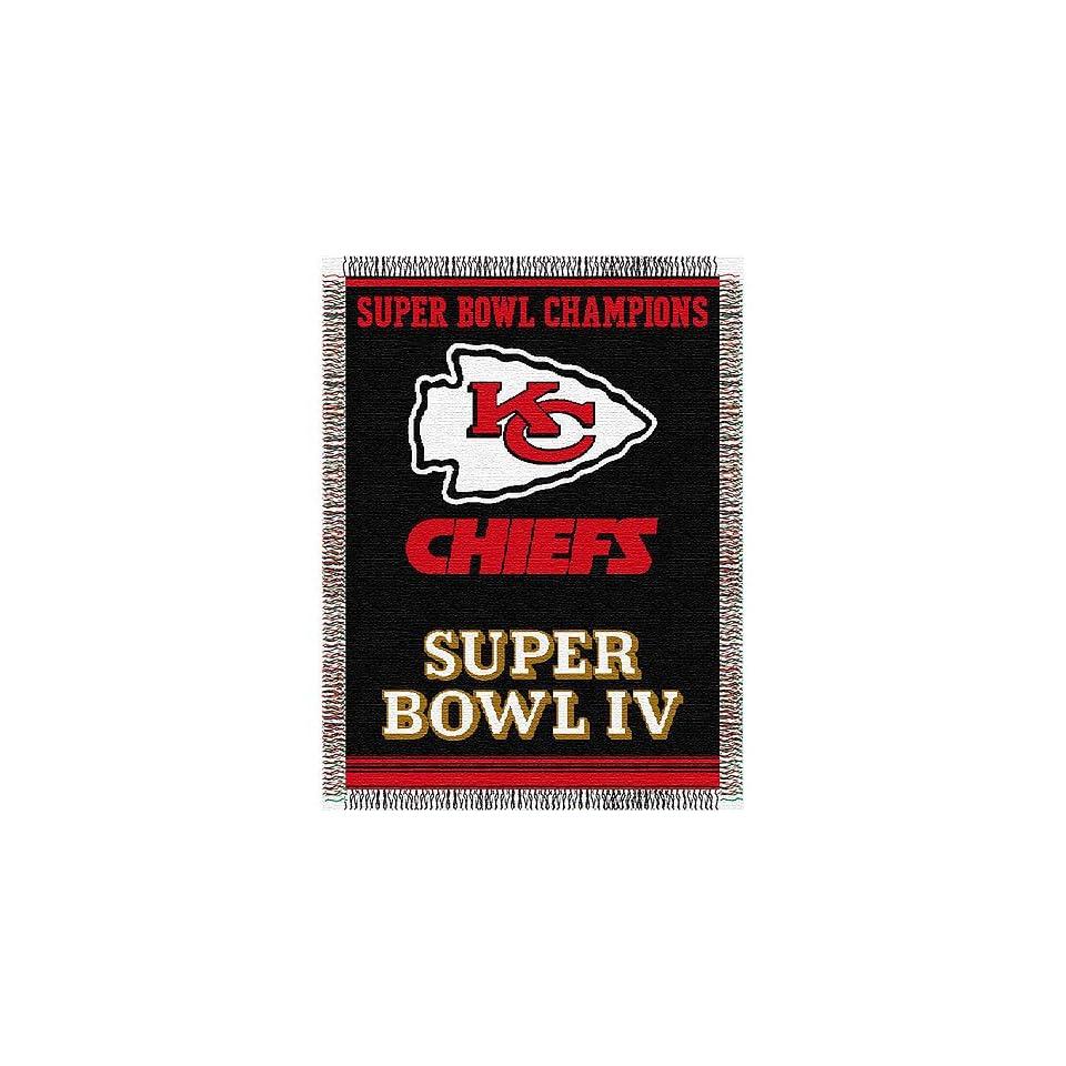 Kansas City Chiefs NFL Super Bowl Commemorative Woven Tapestry Throw (48x60)