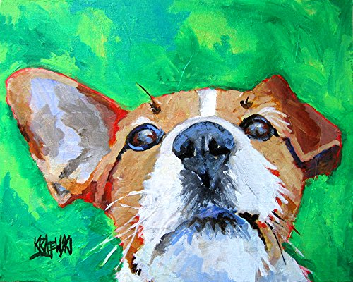 Jack Russell Terrier Dog Fine Art Print on 100% Cotton Watercolor Paper