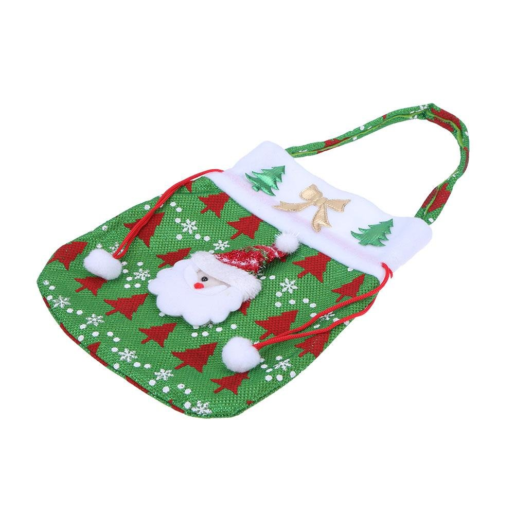 Amazon.com: Whitelotous Santa Claus Christmas Decoration Candy Gift Hand Bag (Green)(Santa Claus): Health & Personal Care