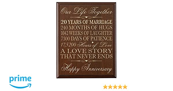 Amazon.com: 20th wedding anniversary gifts wall plaque gifts for