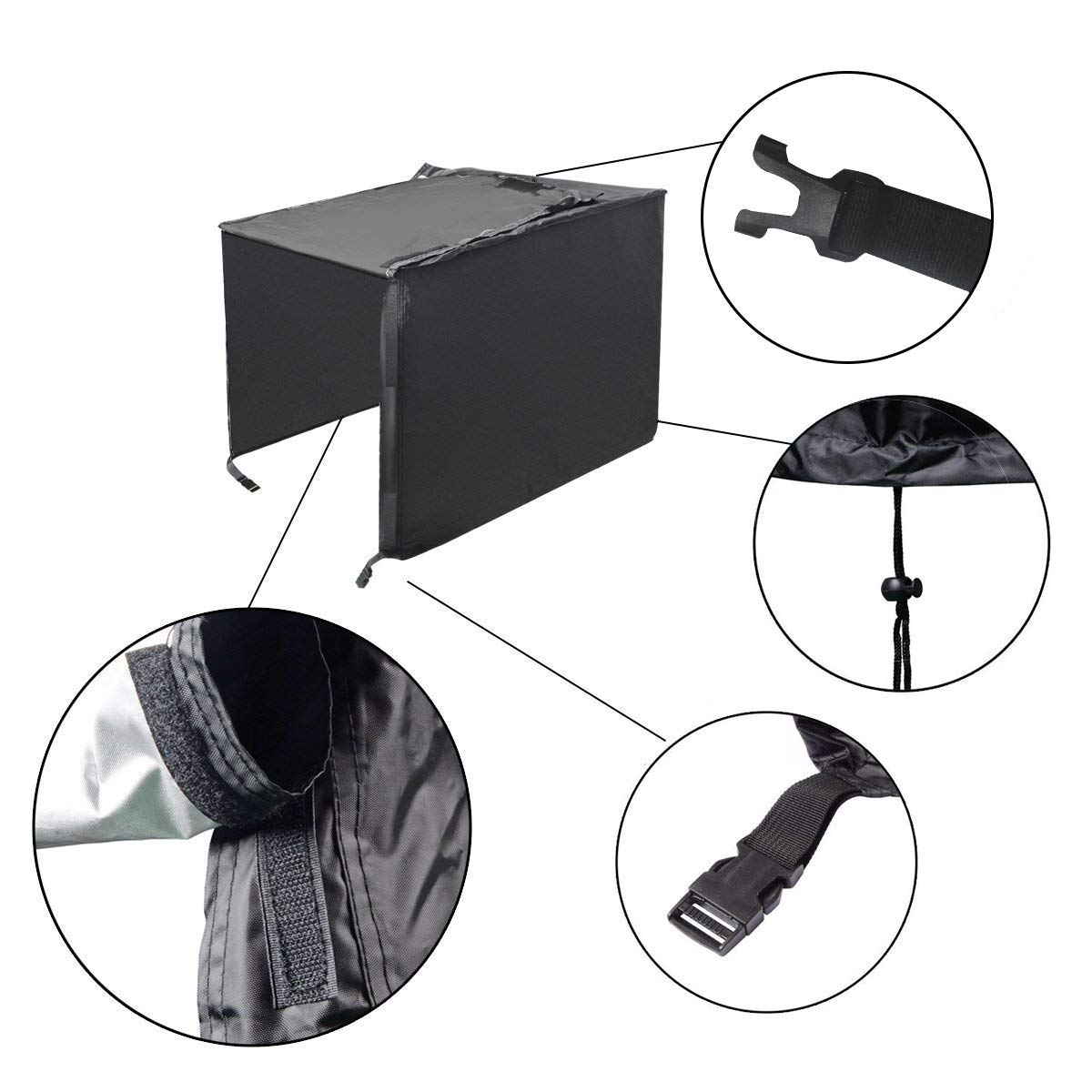 Himal Weather/UV Resistant Generator Cover 25 x 24 x 21 inch,for Universal Portable Generators 2200-5000 Watt, Black by Himal Outdoors (Image #3)