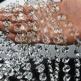 Clear Crystal Acrylic Gems Bead String Curtain Chandelier Garlands Christmas Wedding Party Decoration