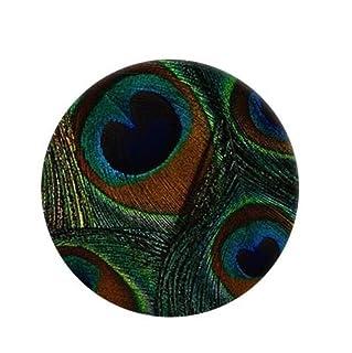 Upstudio Distintivi di Gioielli di novità Distintivo del Bottone Distintivo del Distintivo Rotondo Bello del Fumetto di Cronhe del Vetro di Pavone