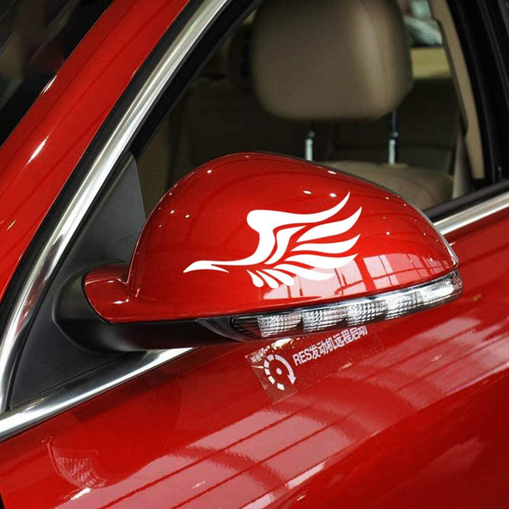 Black ZaCoo Car Rearview Mirror Decal Free Flying Pattern Stickers for Auto Car Side Mirror 2 Pcs