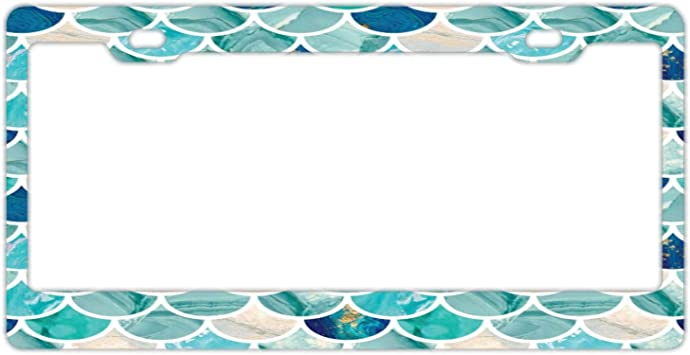 Aluminum Metal Car Licenses Plate Cover for Both Front and Back License Tag Customized Frames Girly License Plate Frame for Women//Girls