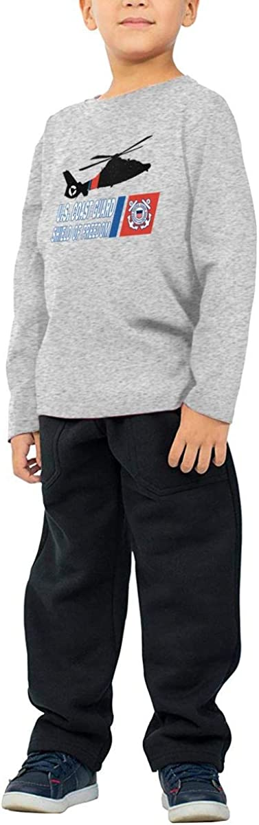 Coast Guard Childrens Long Sleeve T-Shirt Boys Cotton Tee Tops