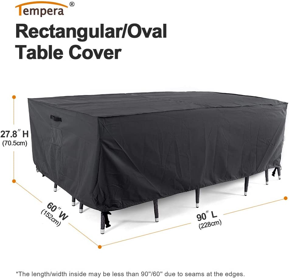 Tear-Resistant Sectional Cover Tempera Patio Furniture Cover Space Grey Sofa Waterproof 74x47 inches UV Resistant Outdoor Table and Chair
