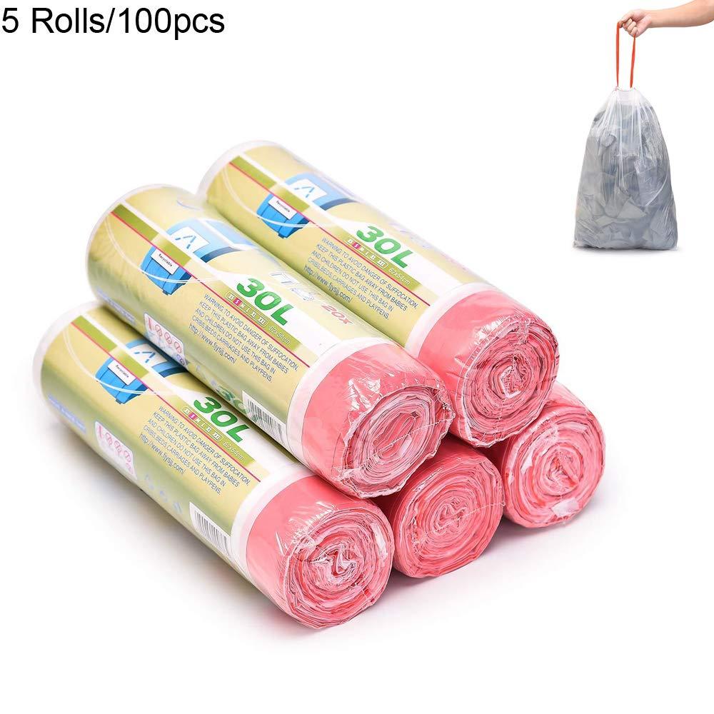 ドローストリングTrashバッグ、8ガロンMedium耐久性Multipurpose Garbage Bags for Officeキッチンベッドルーム、100カウント(5パック) Size: 21''*24.''(54 * 62) B07FS6C8W8  Size: 21''*24.''(54*62)