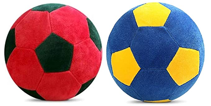 Jassi Toy Touch Soft Toy Football for Kids Combo Multi Color (Set of 2)