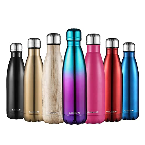 CMXING Stainless Steel Vacuum Insulated Water Bottle-Reusable Double Walled Drinks Bottle Flask