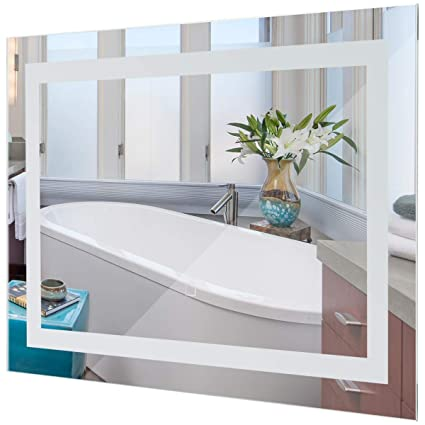 Amazon Com Tangkula Led Bathroom Mirror Wall Mounted Makeup Vanity