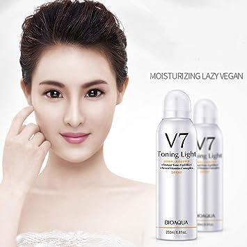 Whitening Face Spray, Luckyfine Skin Whitening Moisturizing Hyaluronate Vitamins Brighten Face Body Concealer, Making