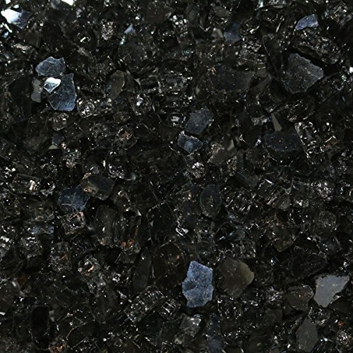 Aquascape Reflective Black Fire Glass for use with Fire and Water Fountains, Fire Places, Fire Pits, and More, 1/4-inch, 10-pounds | 78262