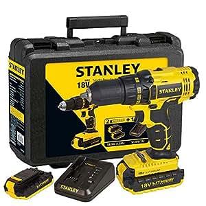 Stanley Scd201D2K/Tr Şarjlı Darbesiz Matkap, Sarı/Siyah