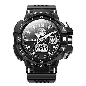 WERTY&K Relojes Deportivos Deportivos para Hombre - Reloj Electrónico A Prueba De Agua con Alarma,