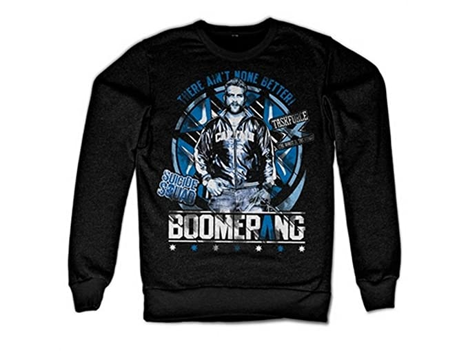 Suicide Squad Officially Licensed Merchandise Boomerang Sweatshirt (Black): Amazon.es: Ropa y accesorios