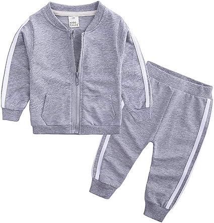 junkai Moda Primavera Otoño Bebé Niños Niñas Deporte Conjunto ...