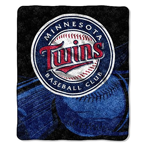 The Northwest Company Officially Licensed MLB Minnesota Twins Big Stick Sherpa Throw Blanket, 50