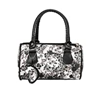 Bangle009 Clearance Sale Women Faux Leather Floral Print Tote Bag Shopping Travel Large Capacity Wallet