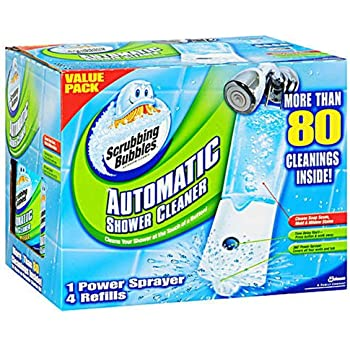 The Scrubbing Bubbles Automatic Shower Cleaner w/3,34oz bottles included