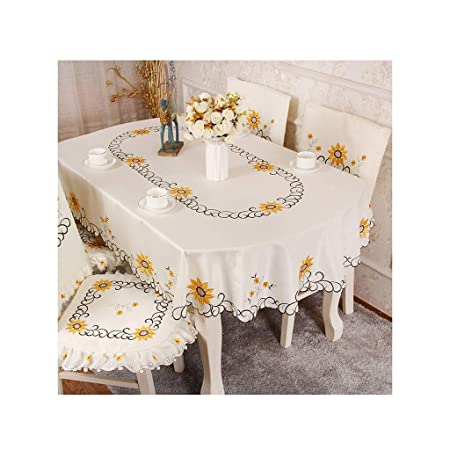 YANFEI Tablecloth Mantel Largo Bordado Que se Puede Colocar en una ...