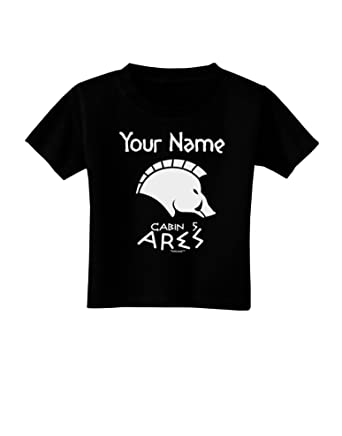 0a03cbeaadd Amazon.com  TooLoud Personalized Cabin 5 Ares Toddler T-Shirt Dark ...