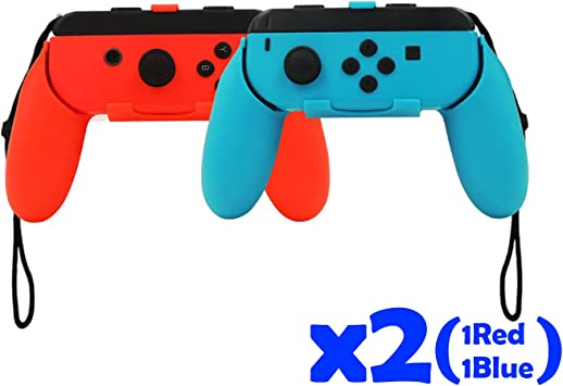 QUMOX Controlador Grip Joystick - Rojo/Azul para Nintendo Switch...