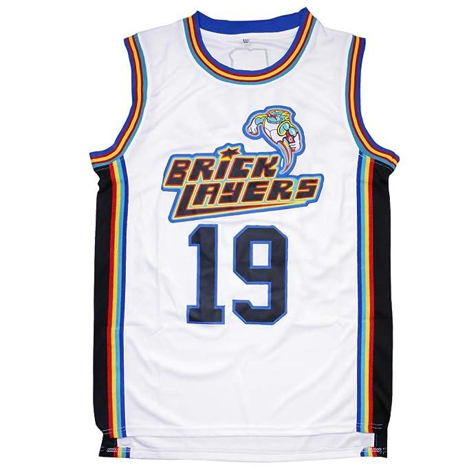 Amazon.com  Aaliyah 19 Bricklayers MTV Rock N Jock Basketball Jersey ... aad96442f
