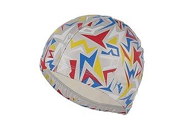 Flowerrs Gorra de natación Sombreros de natación de la Tela de la PU Cascos de natación