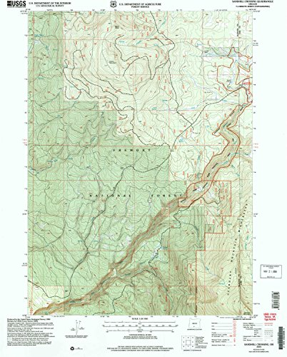 Sandhill Crossing OR topo map, 1:24000 scale, 7.5 X 7.5 Minute, Historical, 2004, updated 2007, 26.7 x 21.5 IN - - Village Sandhill Of