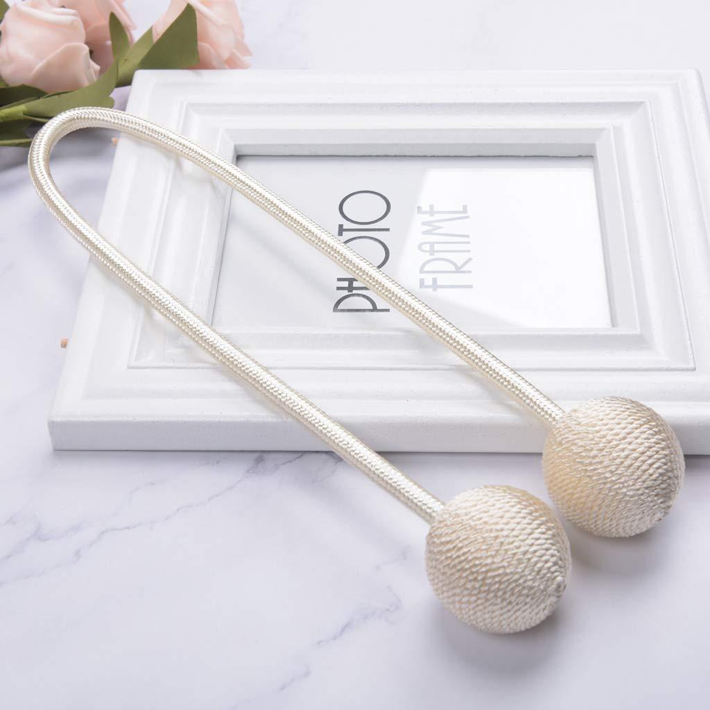 Longueur 55 Cm LOVIVER Embrasse Rideau Attaches pour Rideaux de Fen/être//Rideaux de Style Sph/ère Rose