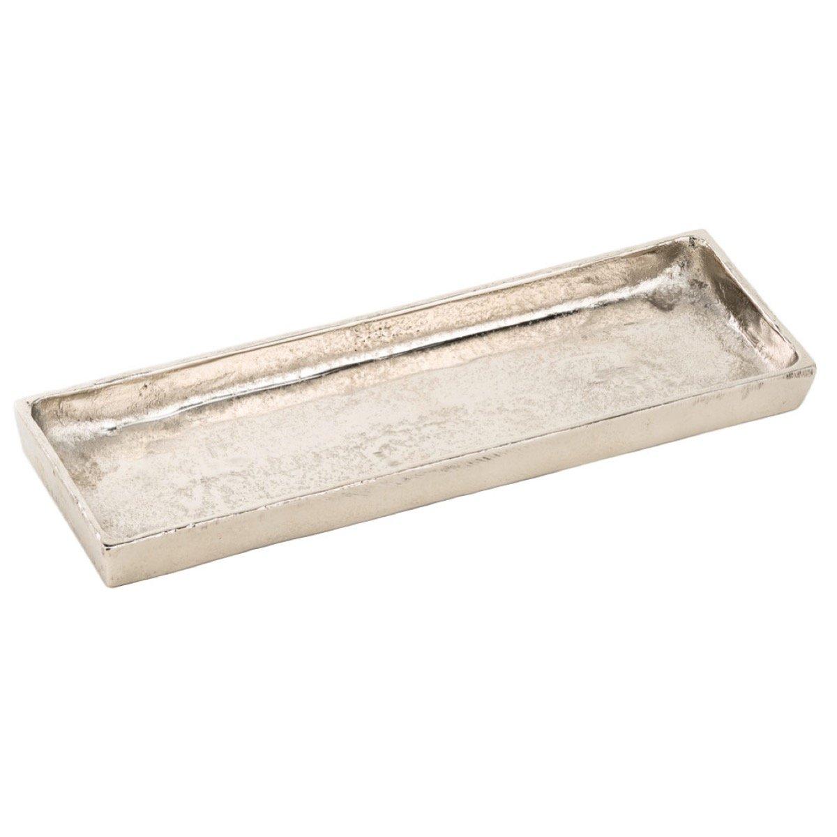ZARTMANN LIVING Metalltablett DERIA - 43 cm - aus Rohaluminium - schwere Qualität - Kerzenteller - Dekoteller - Tablett Z-Living GmbH