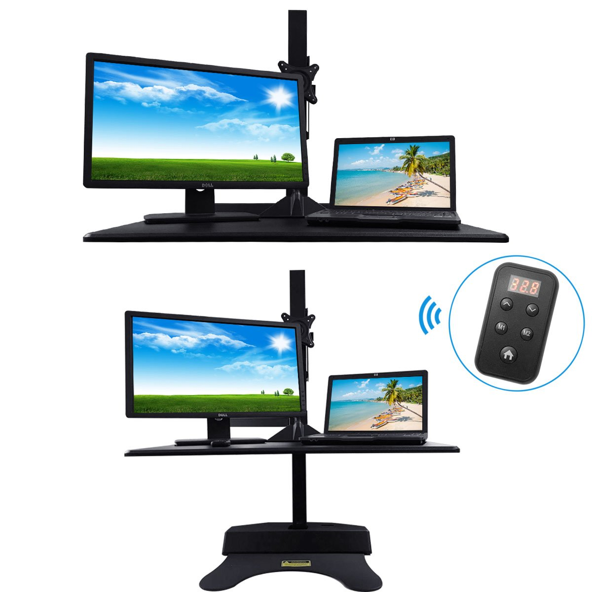 Standing Desk Riser, Freemaxdesk Electric Power Remote Control Height Adjustable Sit to Stand Desk Converter with Monitor Vesa Mount ,Worksuface(26''x21'') by freemaxdesk (Image #7)