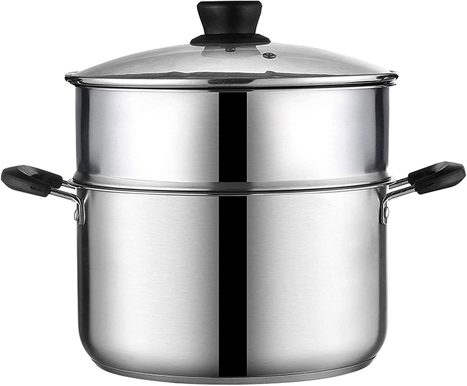 Pans for cooking Steamer Pot Stainless Steel Pot Food Steamer Steamer Cooker Pan Set with Lid Induction Cooker Pan for Kitchen Cooking Tool Style 1 22cm