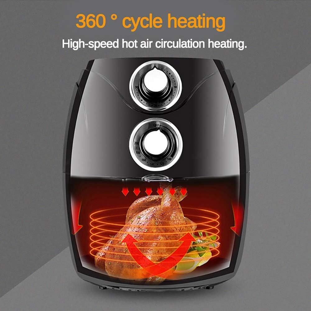 1200W 2.6L Gesundheit Fryer Herd, Multifunktions-Air Fryer mit Smart Touch LCD Airfryer Pizza ölfreie Luft Fryer für Französisch Frites,A B