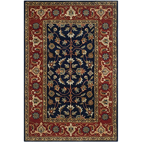 Safavieh Royalty Collection ROY257A Handmade Traditional Navy and Rust Wool Area Rug (4' x 6')