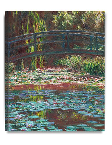 1900's Art (DecorArts - Water Lily Pond 1900, Claude Monet Art Reproduction. Giclee Canvas Prints Wall Art for Home Decor 20x16