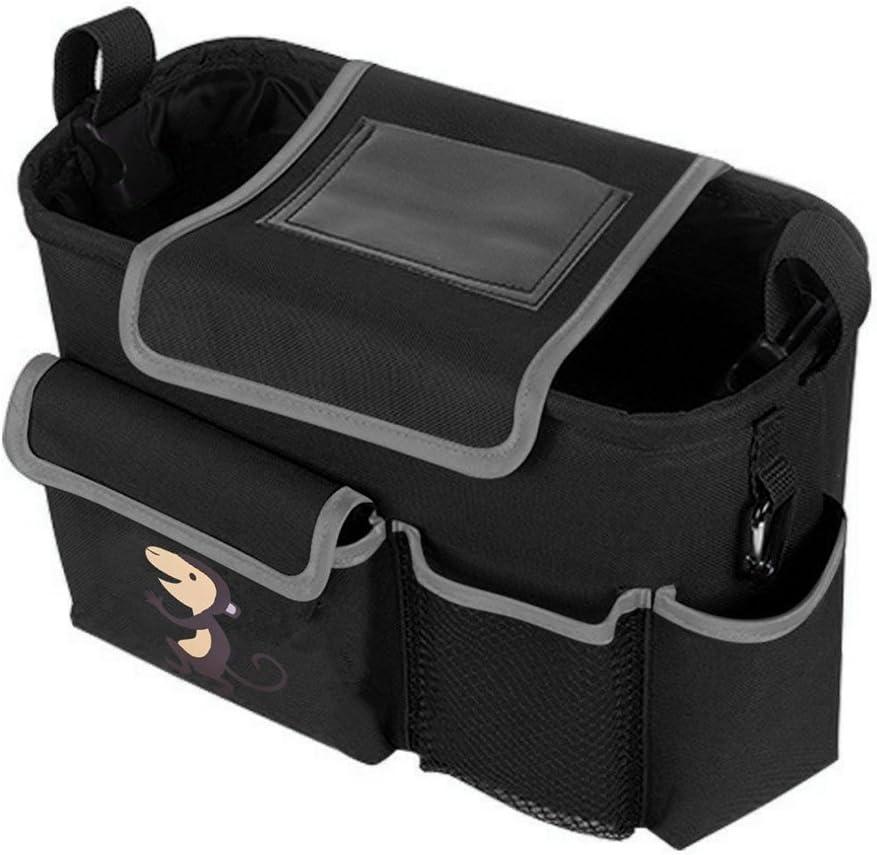 Zuoao Bolsa Organizador Almacenamiento para Cochecito de Beb/éo Silla de Paseo Almacenamiento con Pocket Flap Port/átil Resistente al Agua Modelo Mono