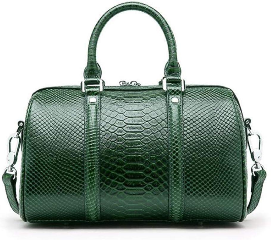 BAACHANG Handbag for Women Vintage Genuine Leather Crossbody Bag Top Handle Tote Purses Satchels (Color : Red wine) A-green