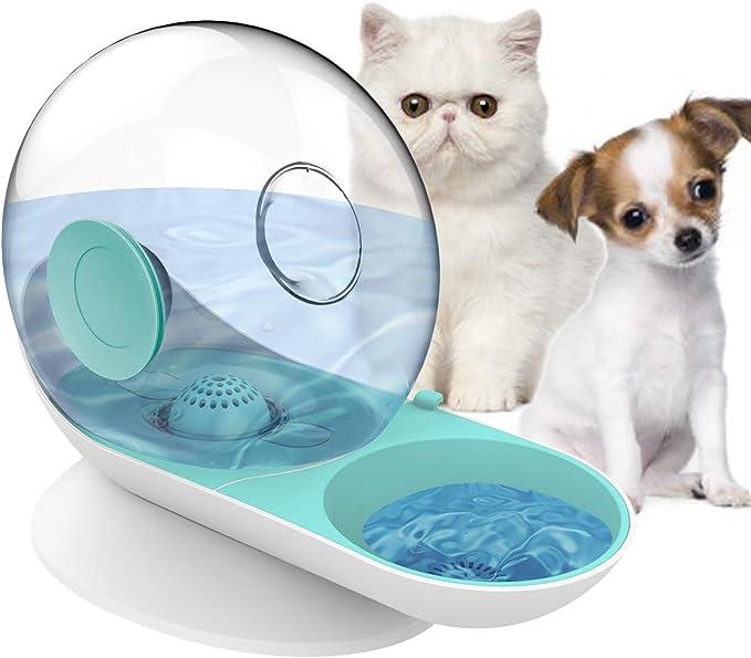 Ciotola per acqua per cani e gatti set di ciotole per cani di piccola o media taglia GingerUP con doppia ciotola per acqua e cibo dispenser automatico di acqua con ciotola per alimenti
