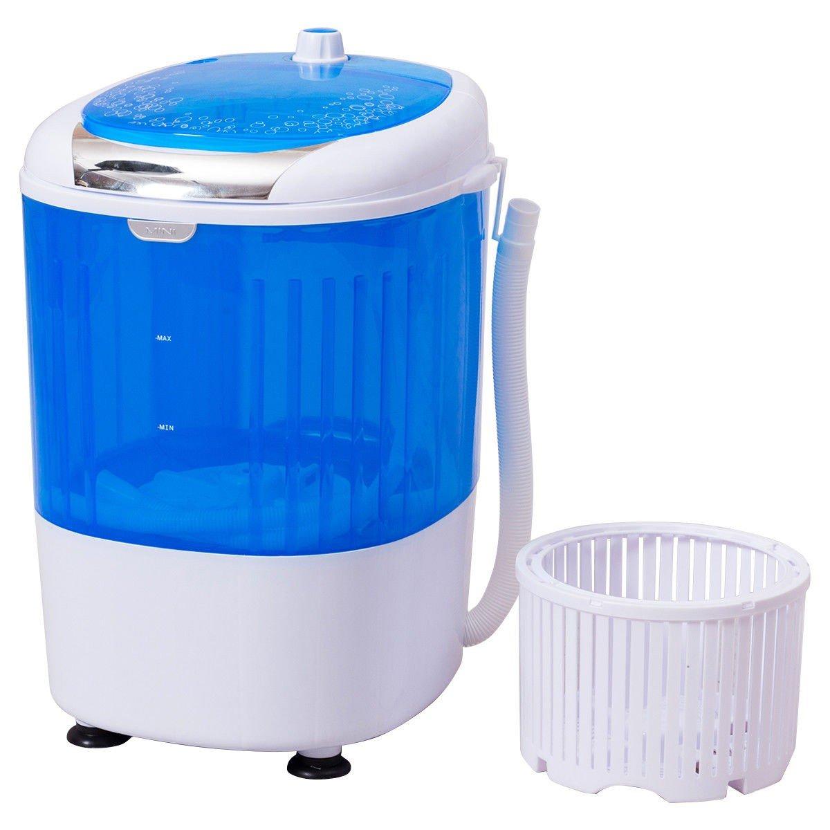 MD Group 5.5 lbs Portable Mini Semi Auto Washing Machine