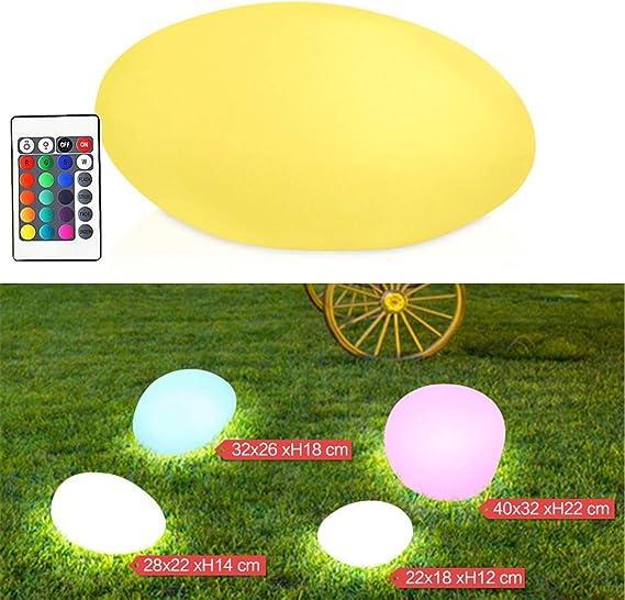 LHY LIGHT Luz de jardín Impermeable Adoquines Luces de césped USB Recargable LED Decoración con 16 Colores Control Remoto y 4 Modos Luces nocturnas de Humor,40 * 32 * 22cm: Amazon.es: Hogar