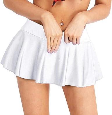inhzoy Falda Corta de Danza para Mujer Mini Falda Plisada de ...