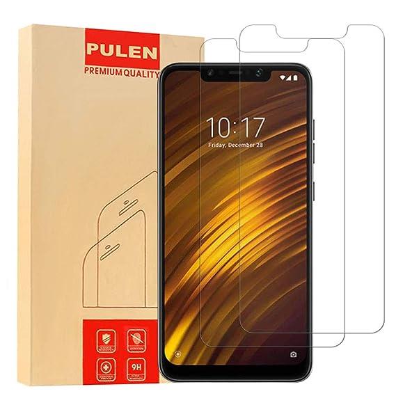 PULEN Xiaomi Pocophone F1 Screen Protector,0 3MM Slim [Ultra Clear]  [Anti-Fingerprints] [Anti-Scratch] 9H Hardness Tempered Glass Film for  Xiaomi