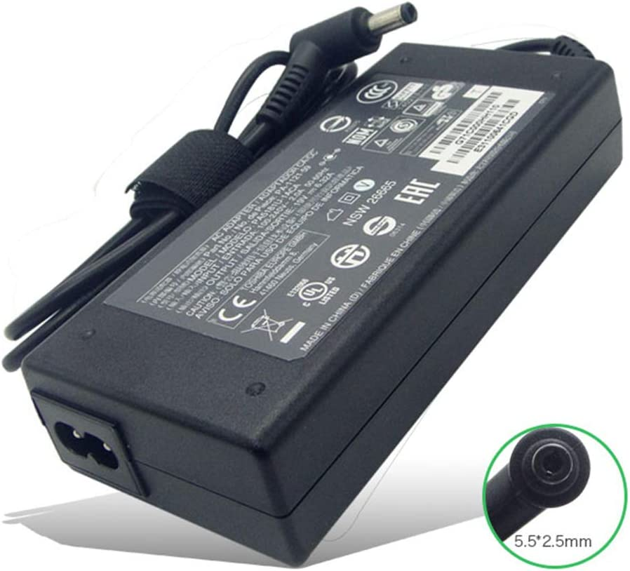 New 19V 6.32A 120W 5.5 X 2.5mm PA-1121-59 AC Adapter Compatible with Toshiba Satellite A65-S1063 A75-S1255 P35-SP611 PA5181U-1ACA Laptop Charger