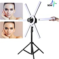 GVM Great Video Maker 90W Dimmable Bi-Color LED Ring Light with Stand