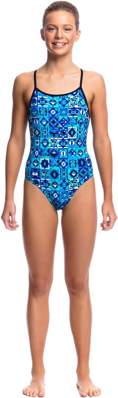 Funkita Girls Diamond Back One Piece Size 176DE//Strike It Lucky Swimming Costume 14AUS