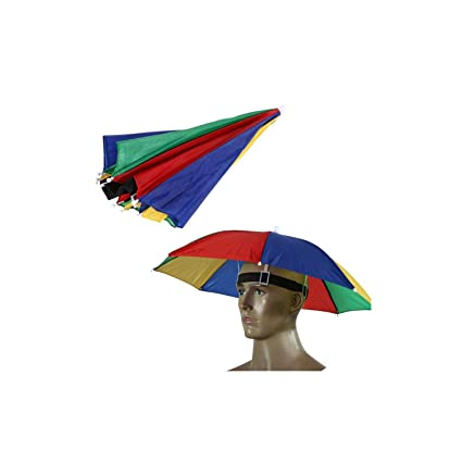 367fd77b Image Unavailable. Image not available for. Color: Umbrella Hat Parapluie Sun  Umbrella Sun Shade Camping Hiking Fishing Umbrella Festivals Outdoor Brolly  ...