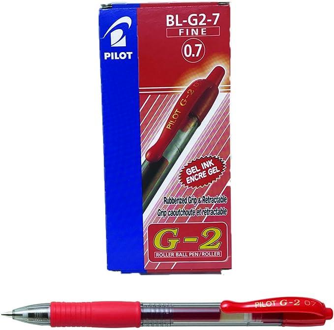 Alphagel Pte 0,7 Rouge PILOT Lot de 6 Recharges BLS-G2-7 Gel pour stylo G2